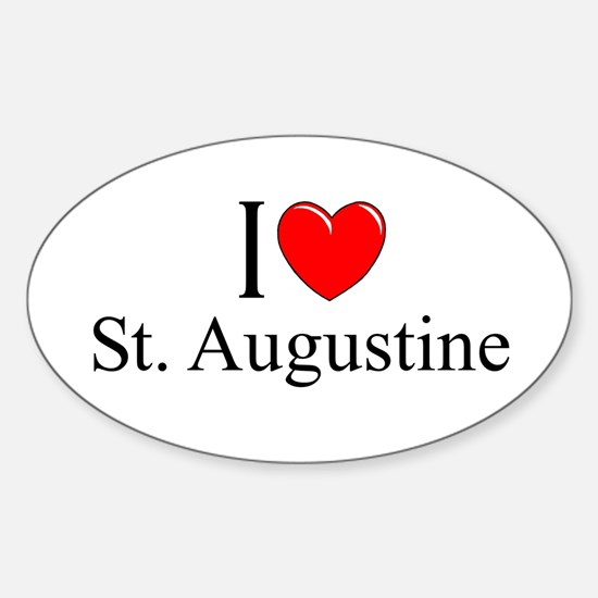 """""""I Love St. Augustine"""" Oval Decal"""