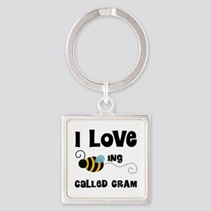 I Love Being Called Gram Square Keychain