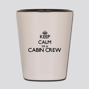 Keep calm I'm a Cabin Crew Shot Glass