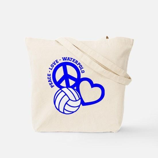 PEACE-LOVE-WATERPOLO Tote Bag