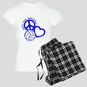 PEACE-LOVE-WATERPOLO Women's Light Pajamas