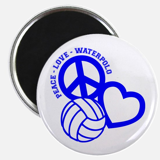 PEACE-LOVE-WATERPOLO Magnet