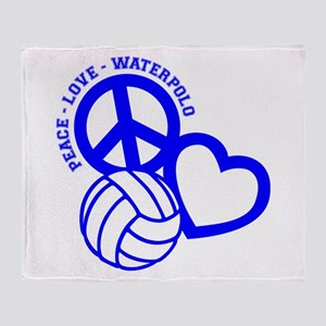 PEACE-LOVE-WATERPOLO Throw Blanket