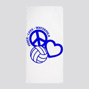 PEACE-LOVE-WATERPOLO Beach Towel