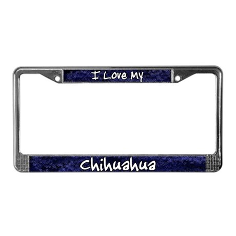 Funky Love Chihuahua License Plate Frame