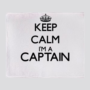 Keep calm I'm a Captain Throw Blanket