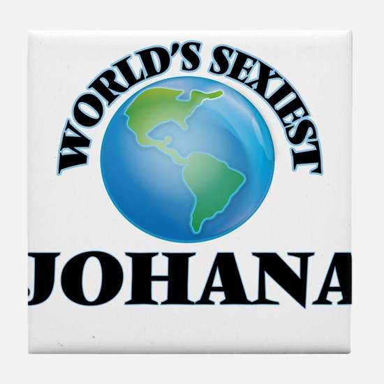 World's Sexiest Johana Tile Coaster
