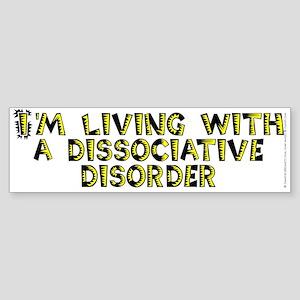 Dissociative disorder - Sticker (Bumper)