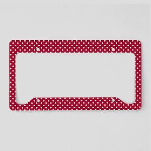 Polka Dots (Red - White) License Plate Holder