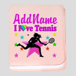 TENNIS PLAYER baby blanket
