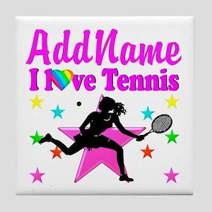TENNIS PLAYER Tile Coaster