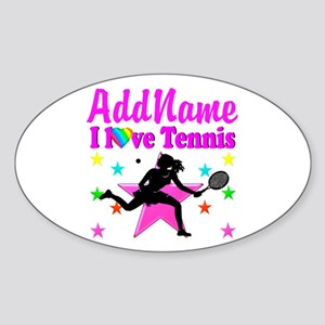 TENNIS PLAYER Sticker (Oval)
