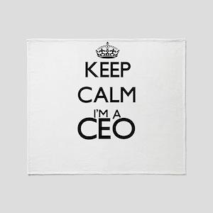 Keep calm I'm a Ceo Throw Blanket