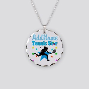 TENNIS PLAYER Necklace Circle Charm