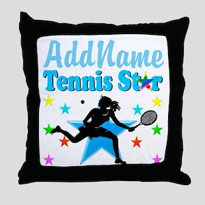 TENNIS PLAYER Throw Pillow