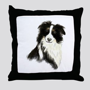 Watercolor Border Collie Dog Pet Animal Throw Pill