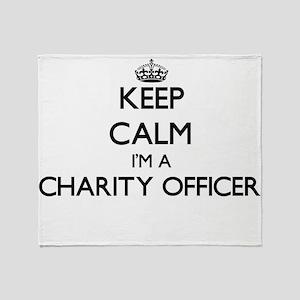 Keep calm I'm a Charity Officer Throw Blanket