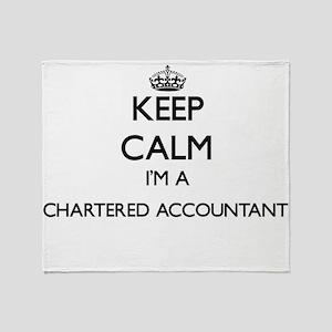 Keep calm I'm a Chartered Accountant Throw Blanket