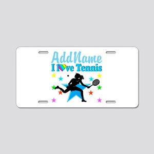 TENNIS POWER Aluminum License Plate