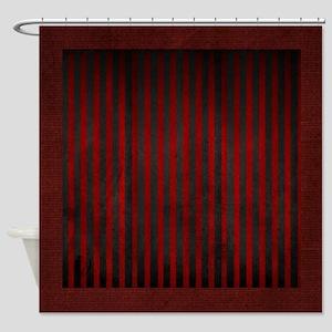 Velvet Stripes On Suede Shower Curtain