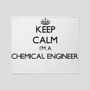 Keep calm I'm a Chemical Engineer Throw Blanket