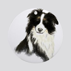 Watercolor Border Collie Dog Pet Animal Ornament (