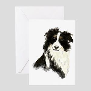 Watercolor Border Collie Dog Pet Animal Greeting C
