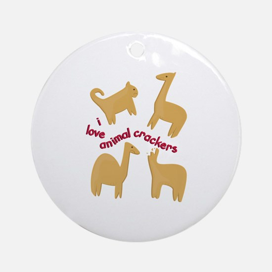 Love Animal Crackers Ornament (Round)