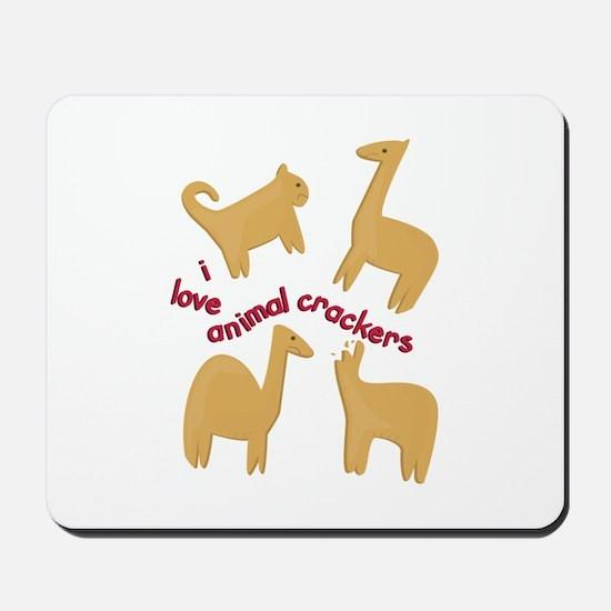 Love Animal Crackers Mousepad