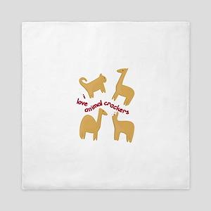 Love Animal Crackers Queen Duvet