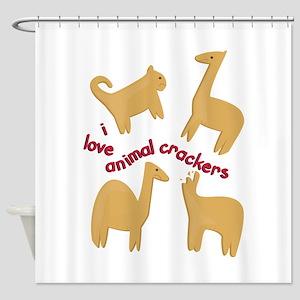 Love Animal Crackers Shower Curtain