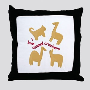 Love Animal Crackers Throw Pillow