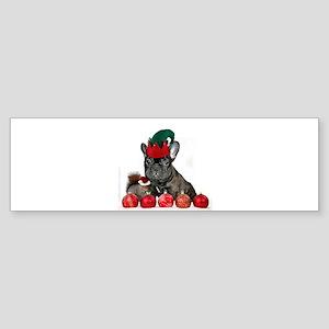 Christmas French Bulldog Bumper Sticker