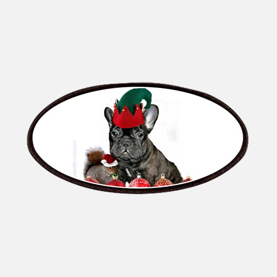 Christmas French Bulldog Patches