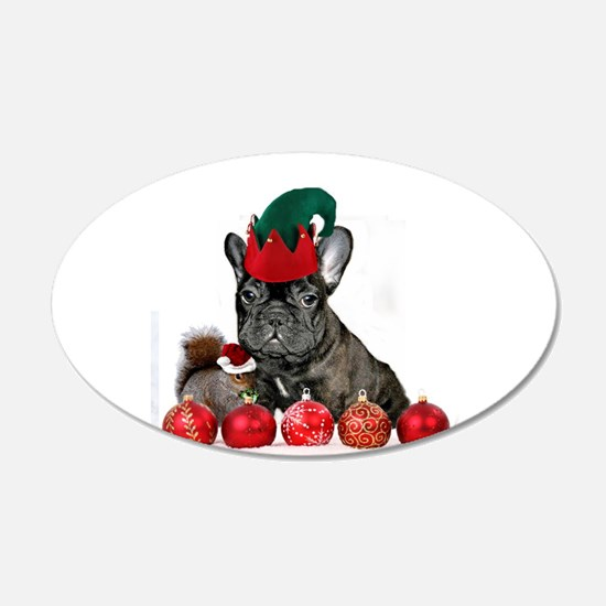 Christmas French Bulldog Wall Decal