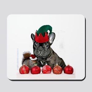 Christmas French Bulldog Mousepad