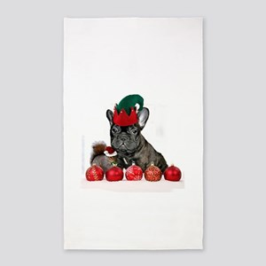 Christmas French Bulldog 3'x5' Area Rug