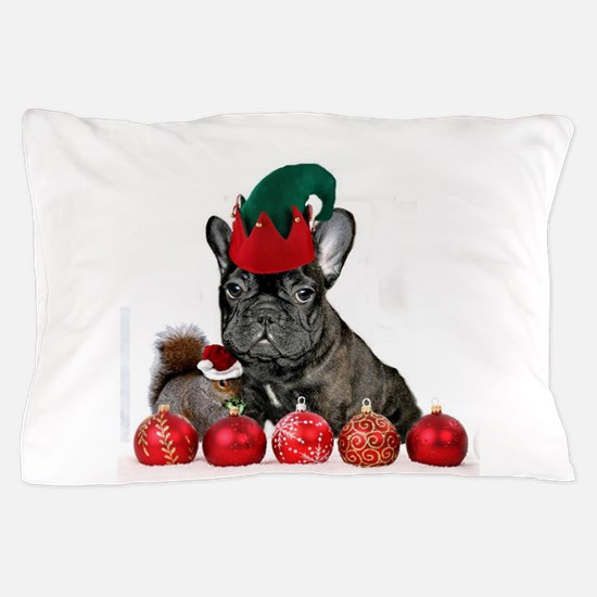 Christmas French Bulldog Pillow Case