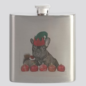 Christmas French Bulldog Flask