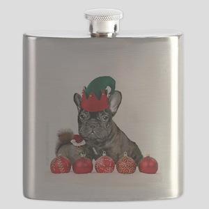 Christmas French Bulldog Flask