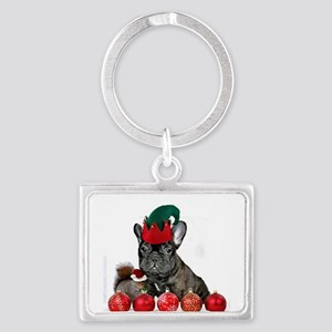 Christmas French Bulldog Keychains