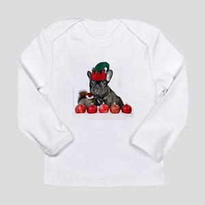 Christmas French Bulldog Long Sleeve T-Shirt