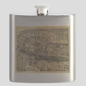 Vintage Map of Maplewood NJ (1910) Flask