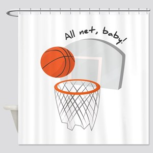 All Net,Baby! Shower Curtain