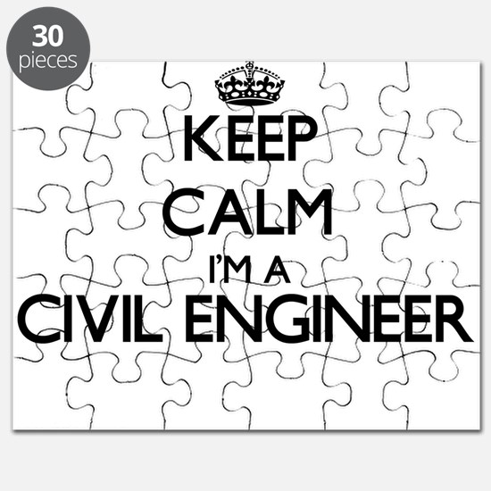 Keep calm I'm a Civil Engineer Puzzle