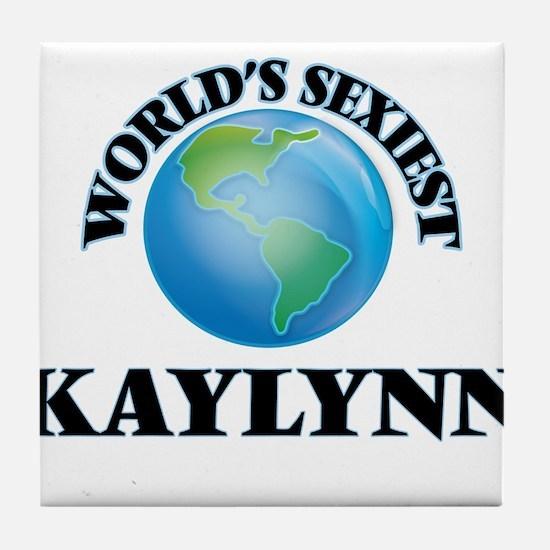 World's Sexiest Kaylynn Tile Coaster