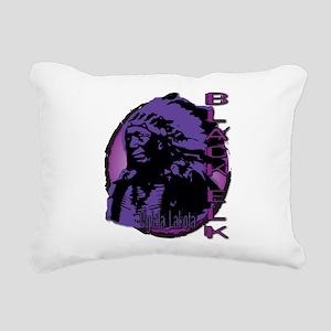 Black Elk Rectangular Canvas Pillow