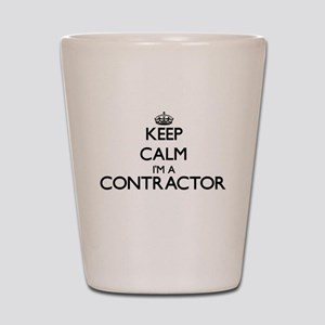 Keep calm I'm a Contractor Shot Glass