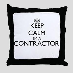 Keep calm I'm a Contractor Throw Pillow