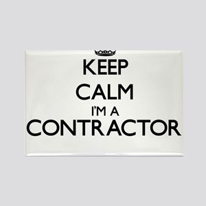 Keep calm I'm a Contractor Magnets